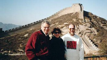 President of World Vision International, Graeme Irvine and Fran Irvine with me at the Great Wall of China.