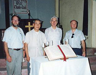 We meet Pastor Thu (2nd from left).