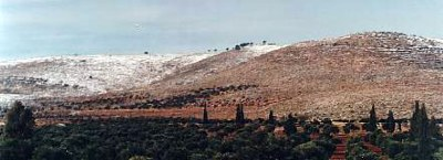 Snow on the hills of Israel